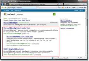 搜索引擎的搜索结果页