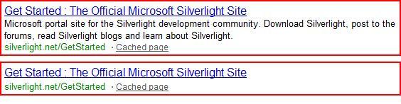 搜索引擎结果页,有meta描述标签与没有meta描述标签